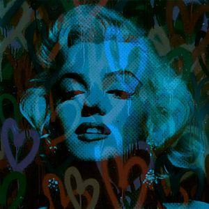 Marilyn Monroe Blue Love Pop Art