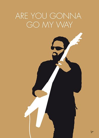 No050 MY LENNY KRAVITZ Minimal Music poster van Chungkong Art