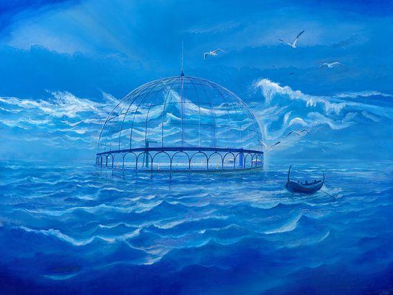 Badesee im Meer van Silvian Sternhagel