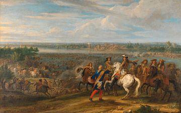 Ludwig XIV. Überquerung in die Niederlande bei Lobith, Adam Frans van der Meulen
