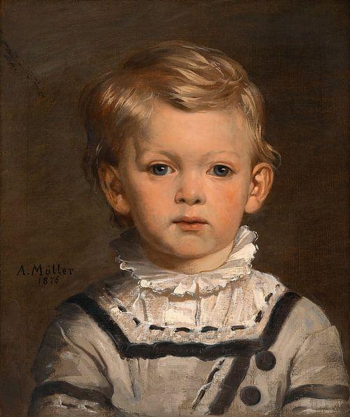 Paul Klob, später Oberst, im Alter von drei Jahren, Anton Müller von Meesterlijcke Meesters