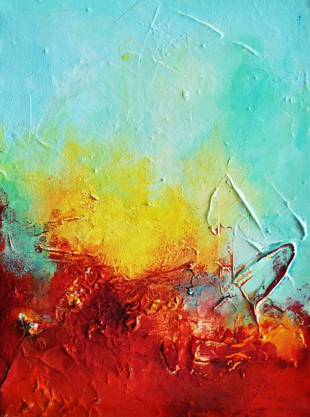 Yellow Sunrise van Maria Kitano