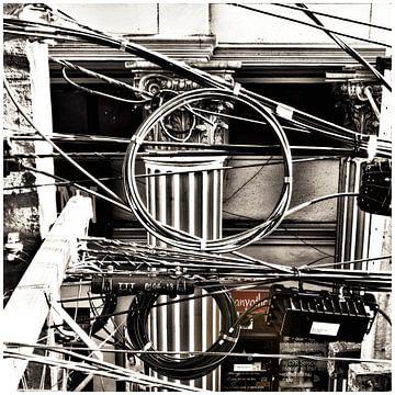 Electriciteits kabels in Bangkok van SPOOR Spoor