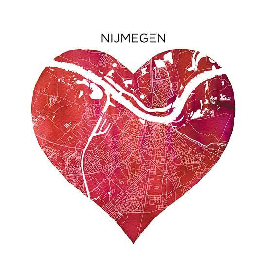 Nijmegen | Stadskaart als Wandcirkel