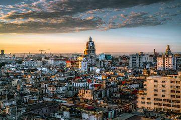 Skyline La Havane, Cuba sur Harmen van der Vaart