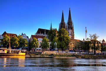Regensburgse Dom met Donauboulevard van Roith Fotografie