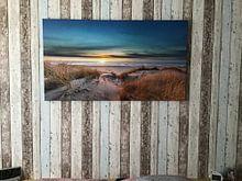 Kundenfoto: Paal 17 Texel Sonnenuntergang von Texel360Fotografie Richard Heerschap, auf leinwand