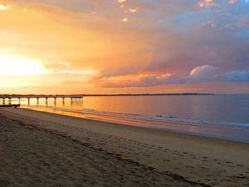Hervey Bay Sunset van Sandra Frevel