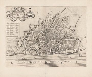 Karte von Nimwegen von 1652