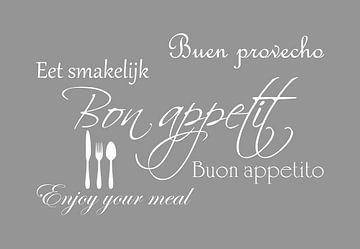 Bon appetit - Licht grijs van Sandra H6 Fotografie