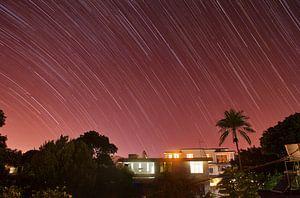 Landschap van sterrenspoor Vacoas Phoenix, Mauritius van