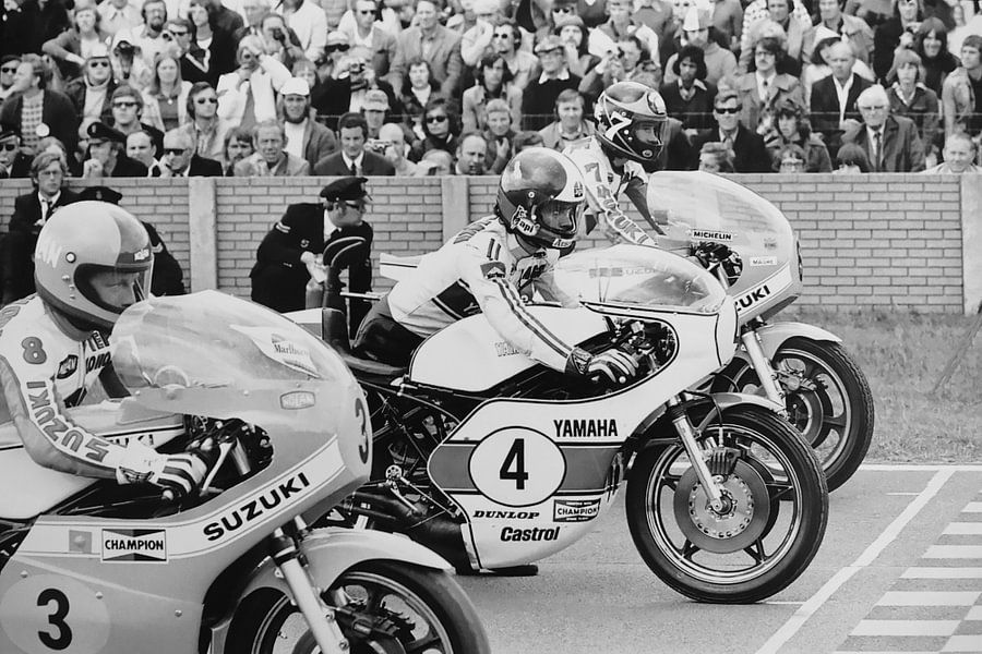 Start 500 cc 1975 TT Assen van Harry Hadders