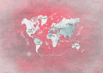 Weltkarte 14 #Karte #Weltkarte von JBJart Justyna Jaszke