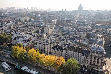 Uitzicht vanaf de kathedraal Notre Dame naar de Seine, Parijs van Christian Müringer