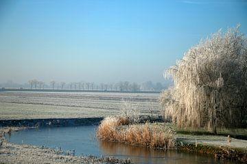 Winterlandschap in Nederland van Cora Unk