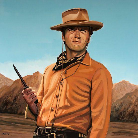 Clint Eastwood Schilderij 2 van Paul Meijering