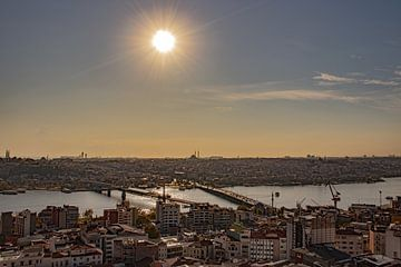 Gezicht op de Bosporus van Oguz Özdemir