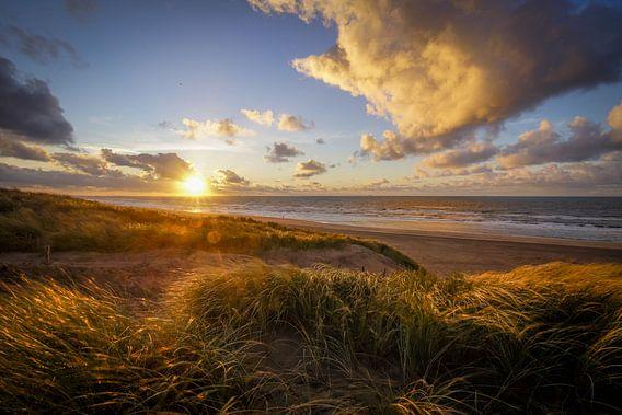 Zonsondergang Strand en Duin