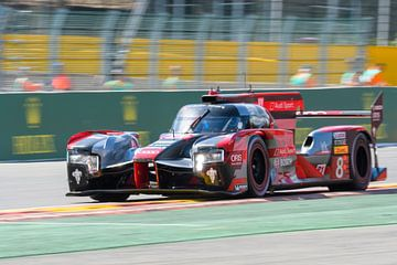 Audi Sport Team Joest R18 e-tron quattro Le Mans Prototype racewagen in Spa Francorchamps van Sjoerd van der Wal