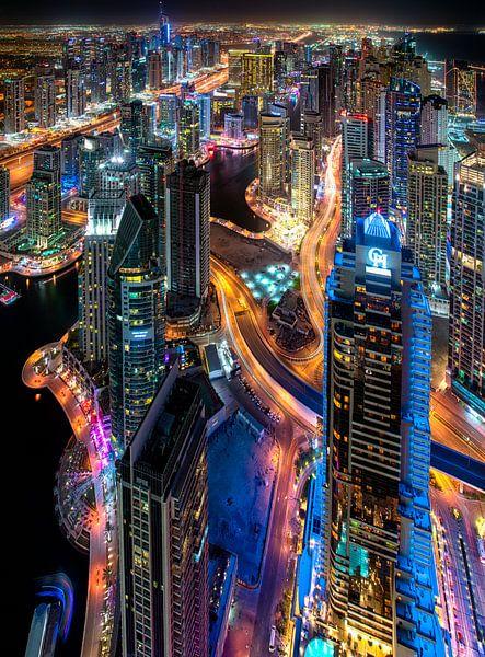 Dubai wandeling vanaf Cayan Tower van Rene Siebring