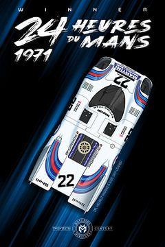 Winnaar 24 Heures du Mans 1971 van Theodor Decker