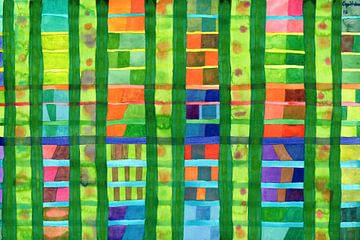 Colored Fields with Bamboo  van Heidi Capitaine