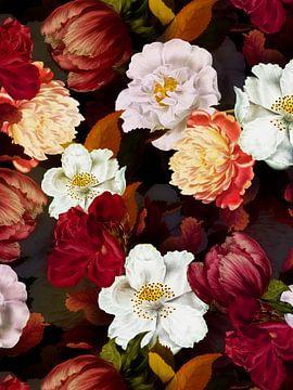 Mitternachts Rosen Garten von Uta Naumann