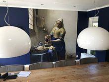 Klantfoto: Het Melkmeisje - Vermeer Schilderij (HQ), op behang