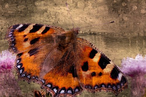 Rustende vlinder van