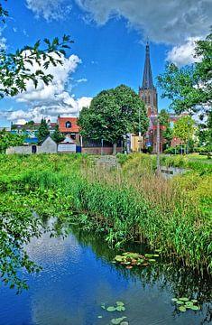 Blick auf die Kirche van