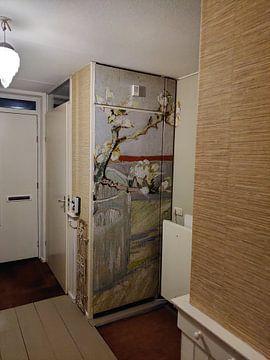 Klantfoto: Vincent van Gogh. Bloeiende amandeltak in een glas