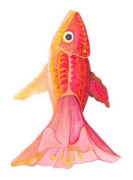 Roter Fisch von Edith van Zutven