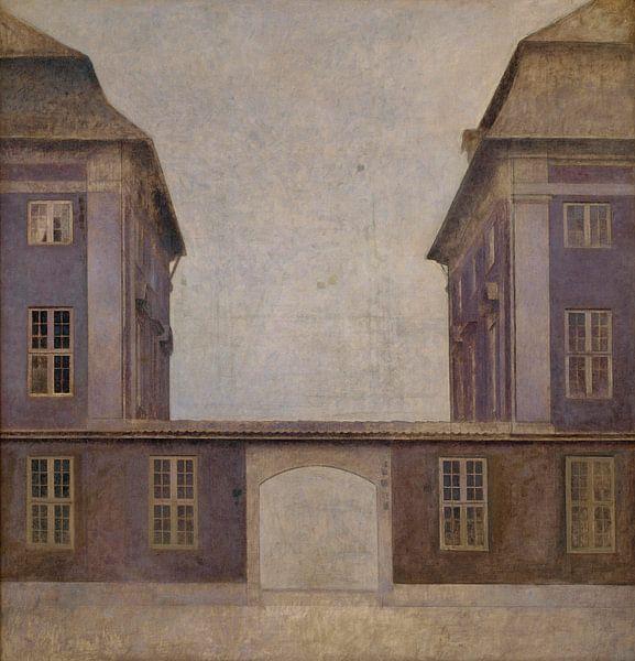 Die Gebäude der Asiatischen Gesellschaft, gesehen von der St. Annæ Straße, Vilhelm Hammershøi von Meesterlijcke Meesters