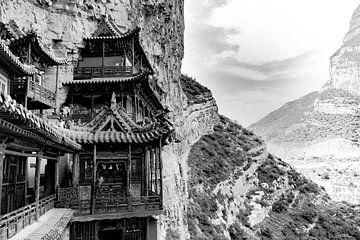 Hangende tempel in Datong, China van Koen van der Werf