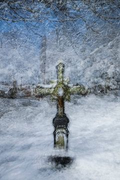 Herdenkingskruis in Ollomont van Guido Rooseleer