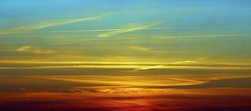 Panorama zonsondergang van Melanie Schook