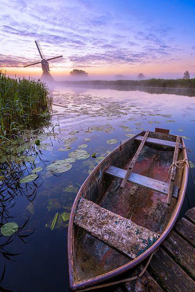 Oudendijkse Molen in de mist II van Sander Peters Fotografie