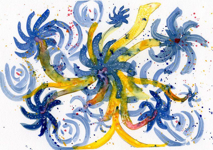 Floral Blue van Irene Hoekstra