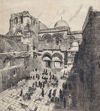 Jeruzalem, Kerk van het Heilig Graf, Otto H. Bacher, 1938 van Atelier Liesjes