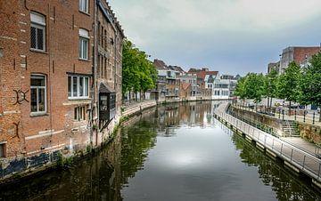 Langs de Dijle in Mechelen van Guy Lambrechts