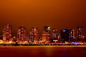 Rotterdam bei Nacht von Diana van Geel