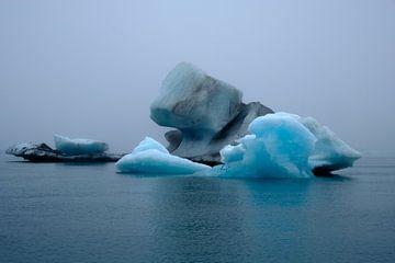Het gletsjermeer Jökulsárlón in IJsland van Yolande Tump