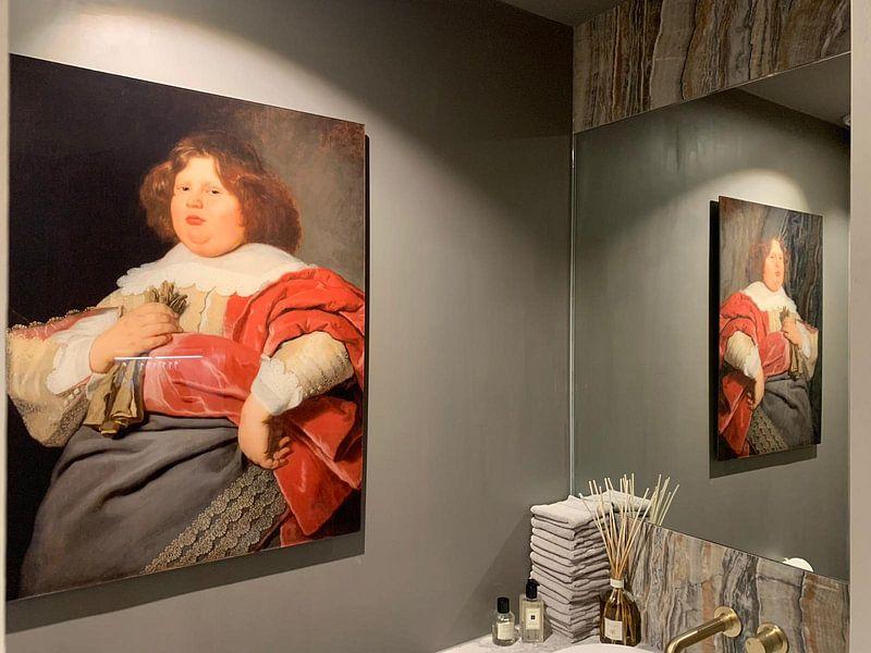 Klantfoto: Portret van Gerard Andriesz Bicker, Bartholomeus van der Helst, op aluminium