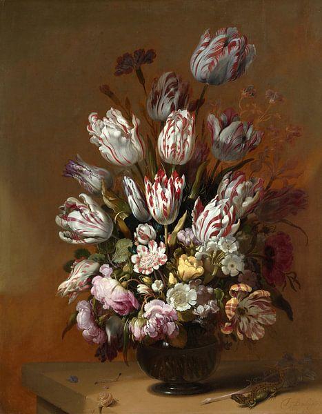 Hans Bollongier. Stilleven met bloemen van 1000 Schilderijen