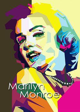 Marilyn Monroe Pop Art WPAP von Fariza Abdurrazaq