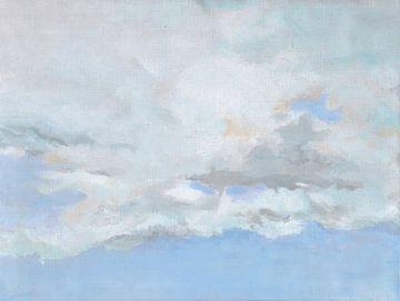 Weiche Luft mit Wolken von Yvon Schoorl