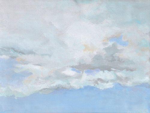Zachte lucht met wolken van