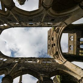 Schöne verfallene Abtei von Hambye, Normandie, Frankreich von Patrick Verhoef