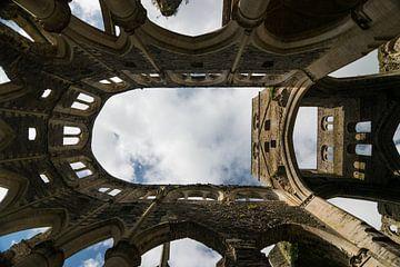 Schöne verfallene Abtei von Hambye, Normandie, Frankreich