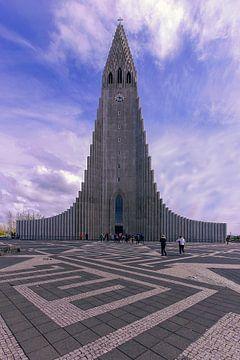 Hallgrímskirkja Reykjavik IJsland van Patrick Lohmüller
